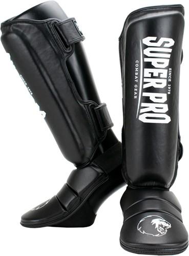 Super Pro Combat Gear Protector Scheenbeschermers - Zwart/Wit