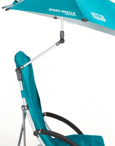 Sport-Brella Campingstoel - Strandstoel met Parasol - Lichtblauw-2
