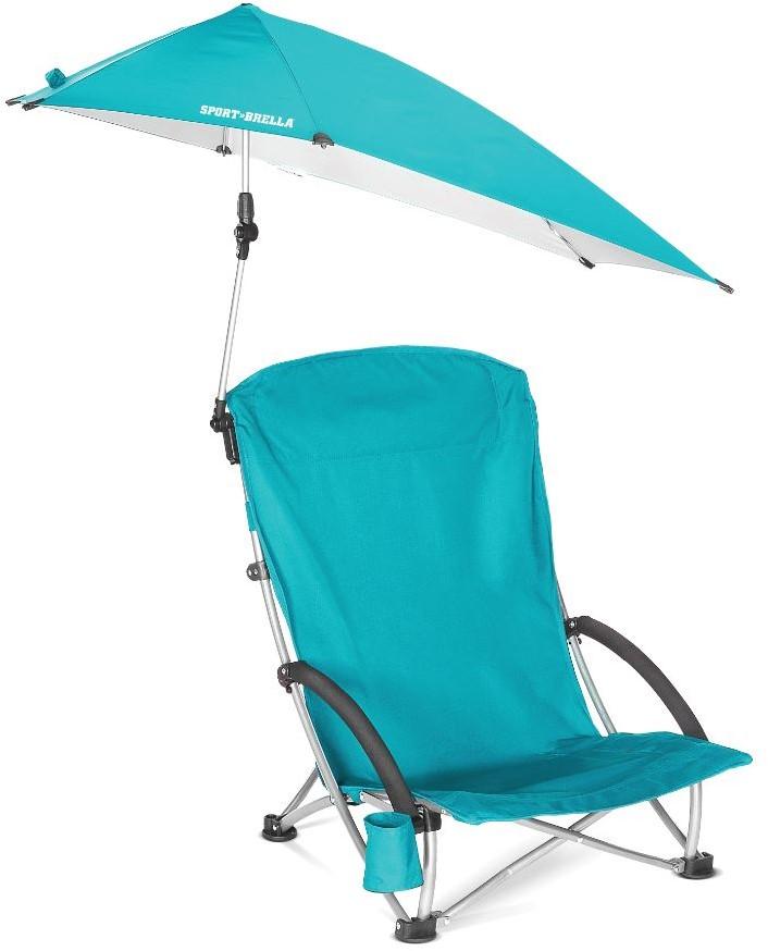 Strandstoel Met Parasol.Sport Brella Campingstoel Strandstoel Met Parasol Lichtblauw