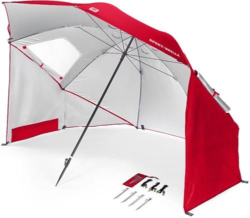 Sport-Brella Strandtent - Windscherm - Parasol   - Rood