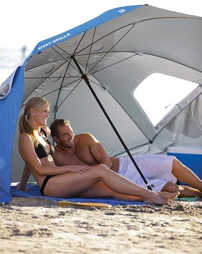 Sport-Brella Strandtent - Windscherm - Parasol- Blauw-3