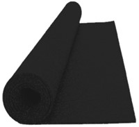 Sportvloer Rol - 1000 x 125 x 6 cm - Zwart