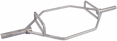 Lifemaxx Olympic Hex Bar - Geborsteld Staal - 140 cm