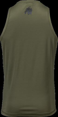 Gorilla Wear Branson Tank Top - Zwart/Legergroen-2
