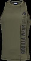 Gorilla Wear Branson Tank Top - Zwart/Legergroen