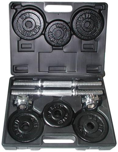 Toorx Fitness - Dumbellset 15 kg - gietijzer - met koffer-2