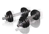 Toorx Fitness - Dumbellset 15 kg - gietijzer - met koffer