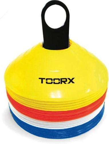 Toorx Agility Cones - Pionnen - Set 24 stuks - met Rek