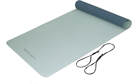 Tunturi TPE Yogamat - Fitnessmat - 183 x 61 x 0,4 cm - Blauw