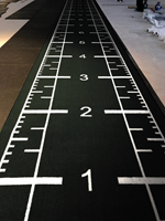 Sprinttrack Kunstgras - 1050 x 200 x 1,6 cm - Zwart-3