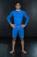 Adidas Transition MMA Short Blauw Beluga-3