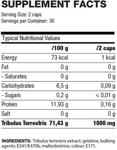QNT Tribulus Terrestris (500 mg) - 60 caps-2