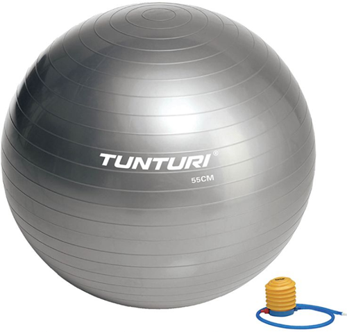 Tunturi Fitnessbal Gymbal Grijs - 55 cm