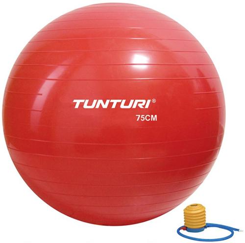Tunturi Fitnessbal Gymbal Rood - 75 cm