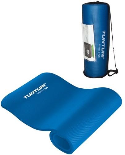 Tunturi NBR Fitnessmat - Yogamat - Blauw