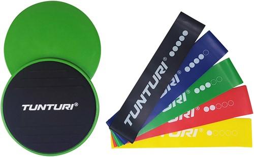 Tunturi Core Sliders + Tunturi Weerstandsbanden Set