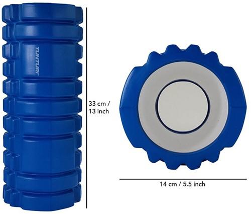 Tunturi Yoga Foam Grid Roller - Blauw-3