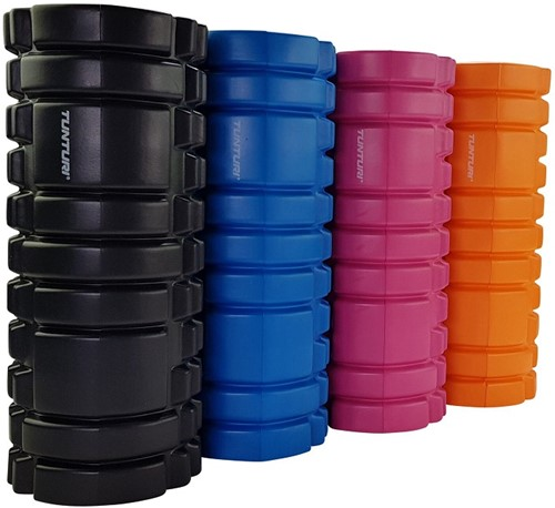 Tunturi Yoga Foam Grid Roller - Oranje-2