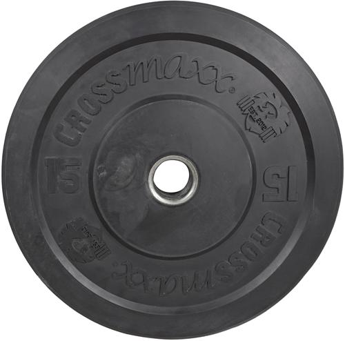Lifemaxx Crossmaxx Olympische Halterschijf - 50 mm - 15 kg - Zwart