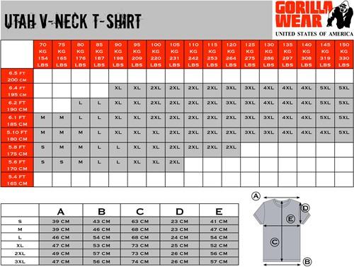Gorilla Wear Utah V-Neck T-Shirt - White-2
