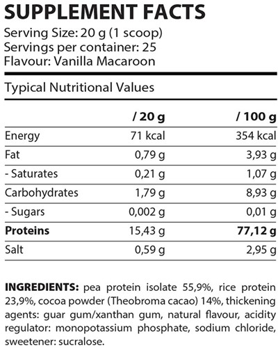 QNT Vegan Protein - 500 gram-2