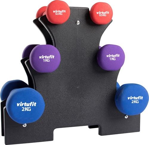 VirtuFit Neopreen Dumbellset - Halterset - Met Houder