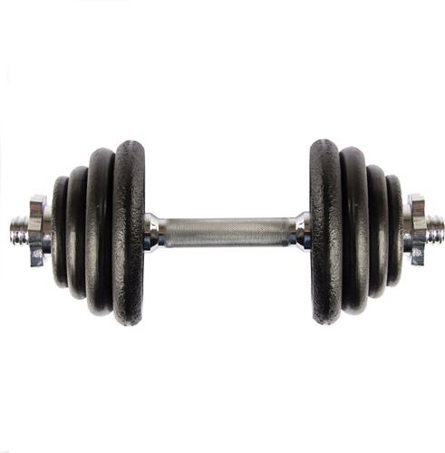 VirtuFit Verstelbare Dumbbellset - Halterset - Gietijzer - 1 x 15 kg