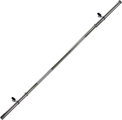 VirtuFit Halterstang - 120 cm - Veerclipsluiting - 28 mm