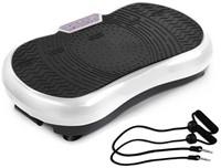 Fitness Body Vibro Power Max Fitness Trilplaat met Handvaten - Zwart
