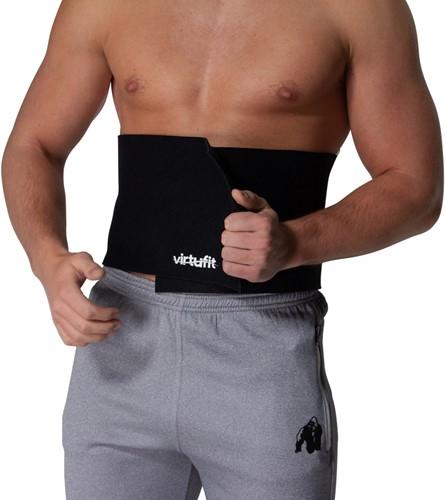 VirtuFit Afslank Tailleband Neopreen 20 - Afslankband - Waist Trainer - Slimming Belt - 20 cm - Zwart-2