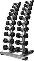 VirtuFit Dumbbellrek staand Deluxe + Hexa Dumbbells 1 t/m 10 kg