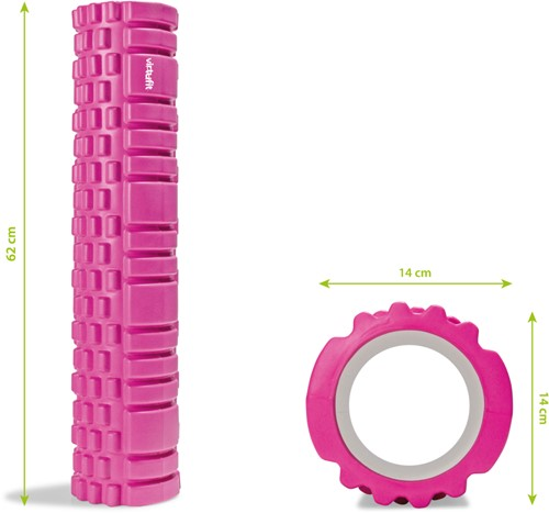 VirtuFit Grid Foam Roller 62 cm Roze-3