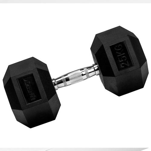 VirtuFit Hexa Dumbbell Pro - 25 kg - Per Stuk