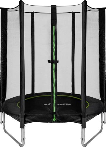 VirtuFit Kindertrampoline met Veiligheidsnet - Zwart - 140 cm - Tweedekans