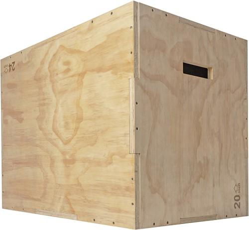 VirtuFit Houten Crossfit Plyo Box 3-in-1 - Groot - 50 x 60 x 75 cm