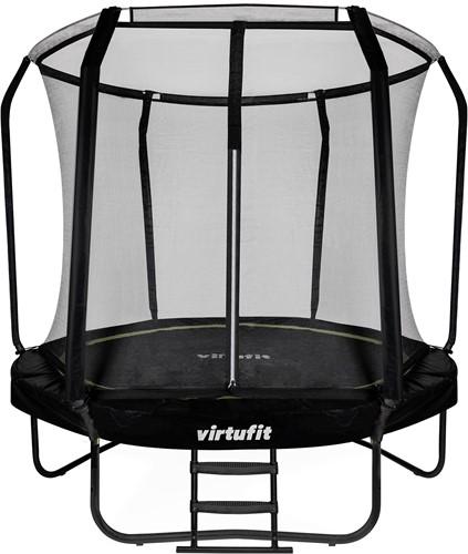 VirtuFit Premium Trampoline met Veiligheidsnet - Zwart - 244 cm