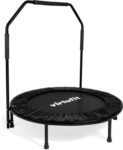 VirtuFit Opvouwbare Fitness Trampoline met Handvat - Zwart - 100 cm