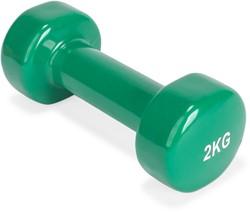 fitnessapparaat.nl-VirtuFit Vinyl Dumbbell Pro - 2 kg - Groen-aanbieding