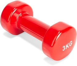 fitnessapparaat.nl-VirtuFit Vinyl Dumbbell Pro - 3 kg - Rood-aanbieding