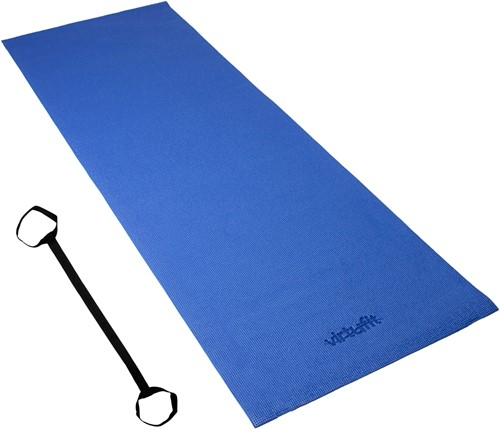 VirtuFit Yogamat - Fitnessmat - Met Draagkoord - 183 x 61 x 0.3 cm - Blauw-3