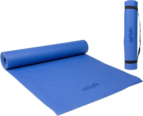 VirtuFit Yogamat met Draagkoord Blauw