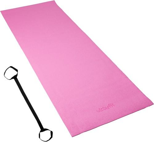 VirtuFit Yogamat - Fitnessmat - Met Draagkoord - 183 x 61 x 0.3 cm - Roze-3