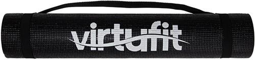 VirtuFit Fitnessmat - Yogamat - 183 x 61 x 0.3 cm - Met Draagkoord - Zwart-3