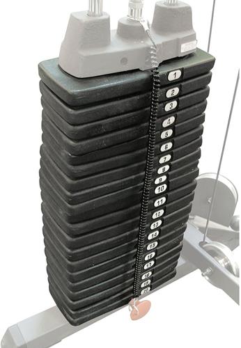 Body-Solid Grey Linear Bearing Smith Machine - Gewichtsstapel 95 kg uitbreidingsset